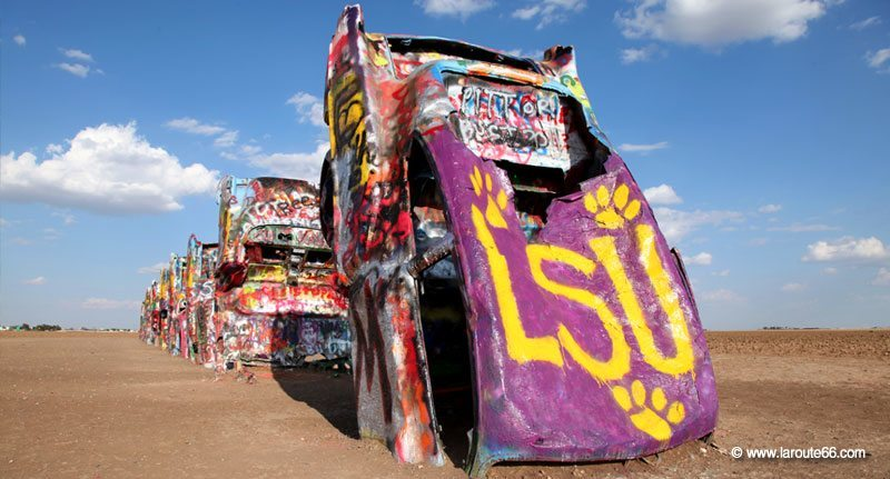 Cadillac Ranch à Amarillo, Texas