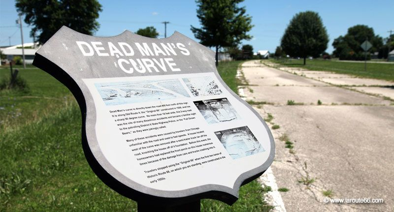 Dead man's Curve à Towanda, Illinois