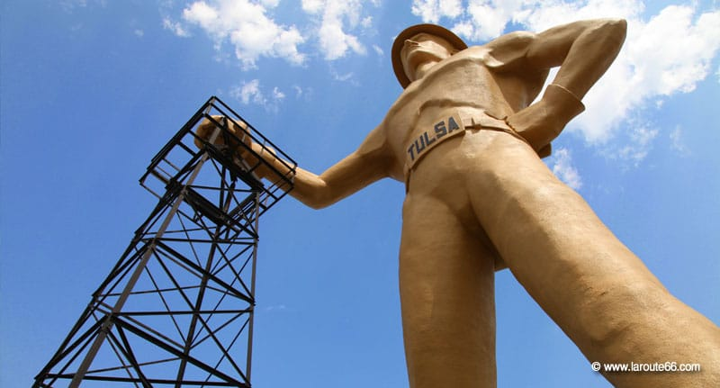 The Golden Driller à Tulsa, Oklahoma